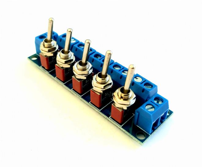 RKswitch1 V2 Toggle Switch Module for Model Railway  - Constructed with Threaded Toggles